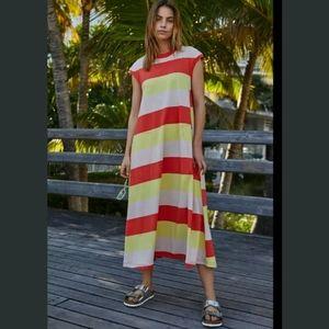 Free People Beach Luella Shirt Slouchy Maxi Dress